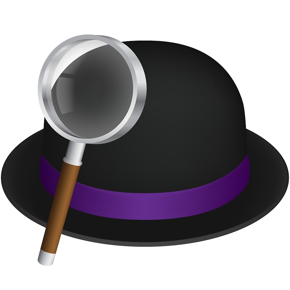 Alfred's hat & magnifying glass by Alfred App