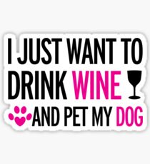 drink, wine, pet, dog Sticker