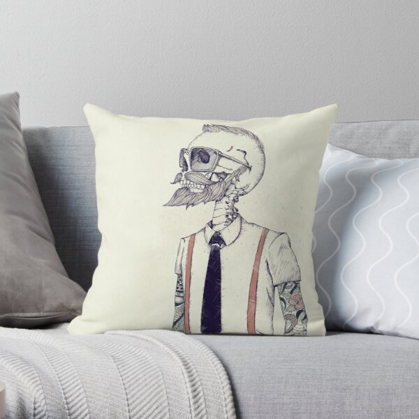 The Gentleman becomes a Hipster Throw Pillow