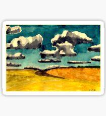 Yellow fields Sticker