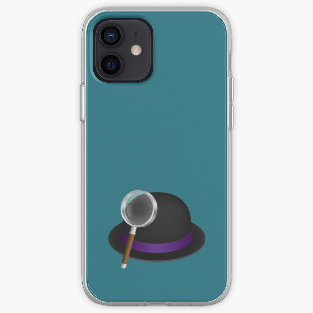 Alfred's hat & magnifying glass iPhone Case & Cover