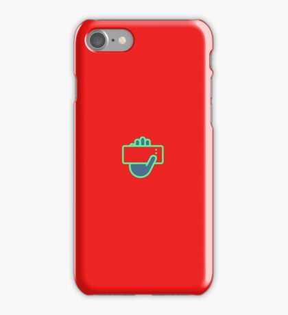 Hand hold a phone on a phone iPhone Case/Skin