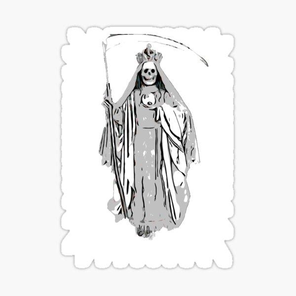 Santa Muerte-La Niña Blanca Pegatina