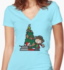 Christmas Doctor! Christmas! Women's Fitted V-Neck T-Shirt
