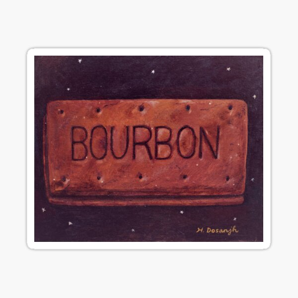 Bourbon Biscuit Sticker