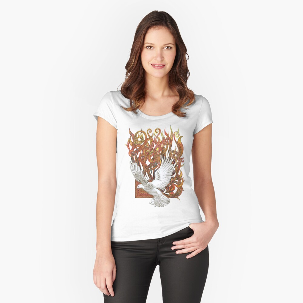 Spirit of God Women's Fitted Scoop T-Shirt Front