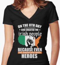 Funny Irish Irish American Women's Fitted V-Neck T-Shirt