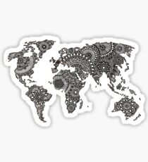 Henna World Map  Sticker