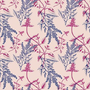 Navy Blush Pink Floral by emfrazier96