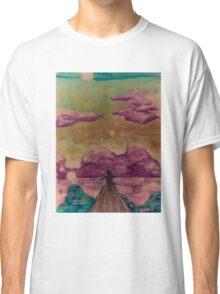 Happy sky silhouette girl Classic T-Shirt