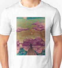 Happy sky silhouette girl T-Shirt