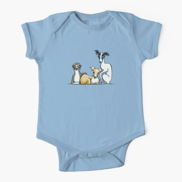Italian Greyhound Trio Short Sleeve Baby One-Piece