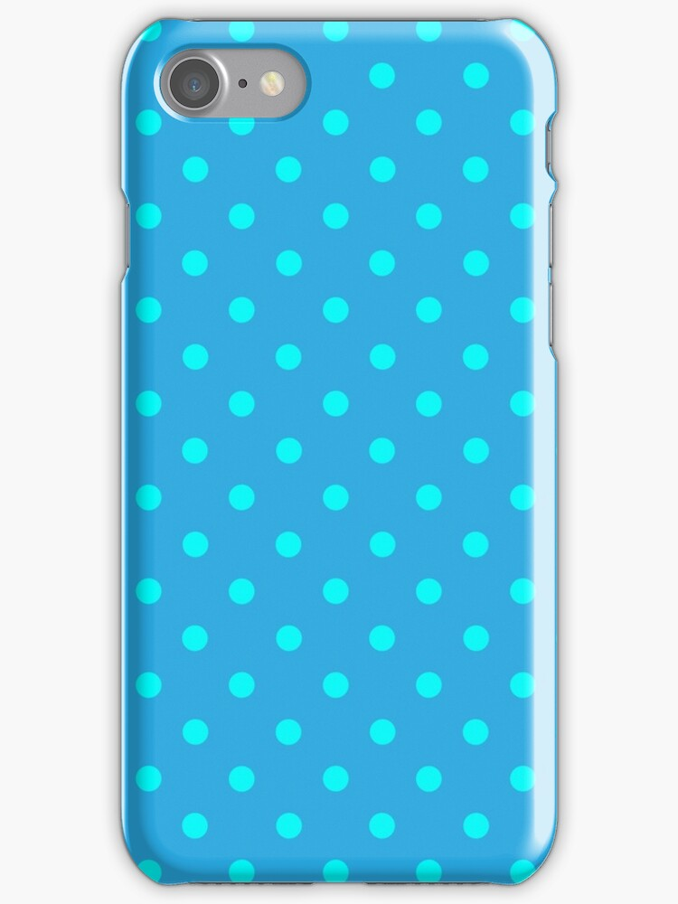 Polkadots Blue and Turquoise by MEDUSA GraphicART