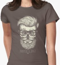 Hipster is Dead II Women's Fitted T-Shirt