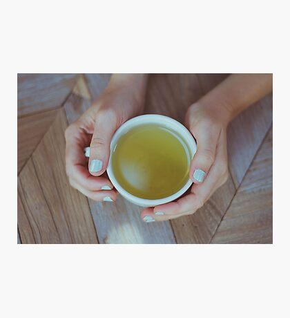 Mint Green Tea Photographic Print