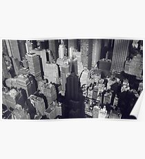 Manhattan, New York City, view from the Empire State Building, NYC  Poster