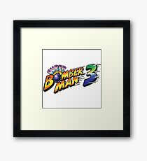 SUPER BOMBERMAN 3 LOGO Framed Print