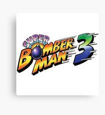 SUPER BOMBERMAN 3 LOGO Canvas Print