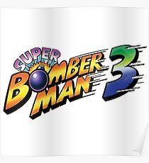 SUPER BOMBERMAN 3 LOGO Poster