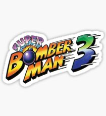 SUPER BOMBERMAN 3 LOGO Sticker