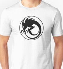 Sliver Ouroboros Symbol -Black- Unisex T-Shirt