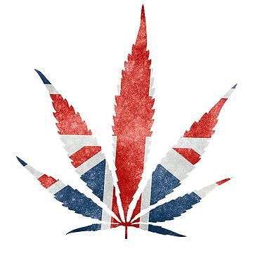 Weed Leaf UK Flag by dreamtofly