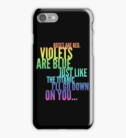 Roses Are Red Rude Funny Poem Joke iPhone Case/Skin
