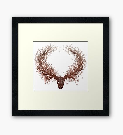 The Deer Tree Framed Print
