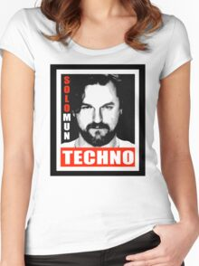 Obey Techno Women's Fitted Scoop T-Shirt