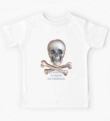 Respect My Existence Skull & Crossbones Edition Kids Tee