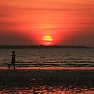A girl, a dog and a sunset by Ursula Rodgers Photography