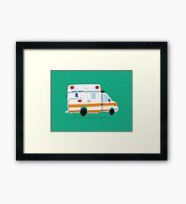 Cute Ambulance Framed Print