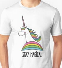 Rainbow Unicorn - Stay Magical Unisex T-Shirt