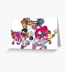 Super Bomberman R - Bomberman and Friend!  (Logo) Greeting Card