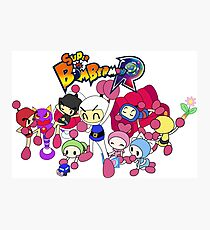 Super Bomberman R - Bomberman and Friend!  (Logo) Photographic Print