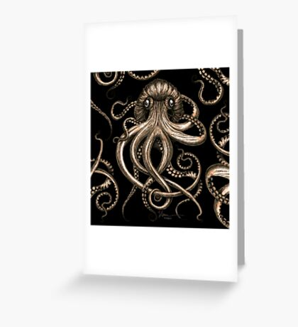Bronze Kraken Greeting Card
