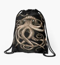 Bronze Kraken Drawstring Bag