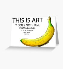 The Really Quite Dull Banana Greeting Card