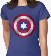 Truth & Justice (Jewish Cap Shield for DB) Womens Fitted T-Shirt