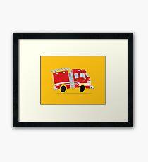 Cute Firetruck Framed Print