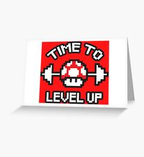 Time To Level Up Greeting Card