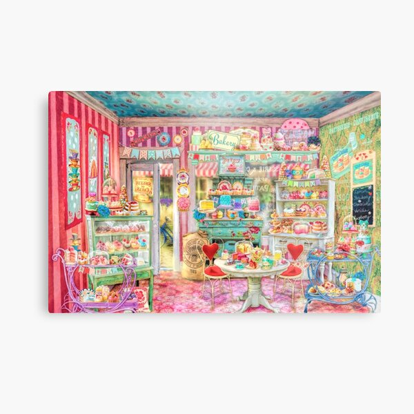 The Little Cake Shop Metal Print