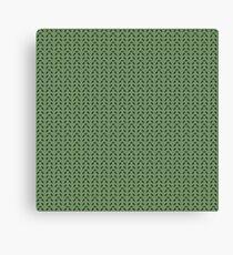 Pixel Leaves Canvas Print