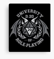 University of Role-Playing Canvas Print