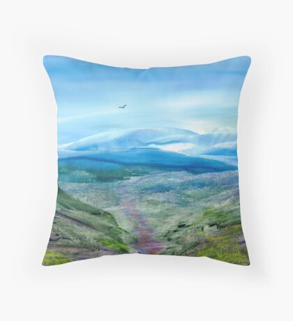 Over Hill and Dale Throw Pillow
