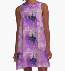 Purple Butterfly A-Line Dress