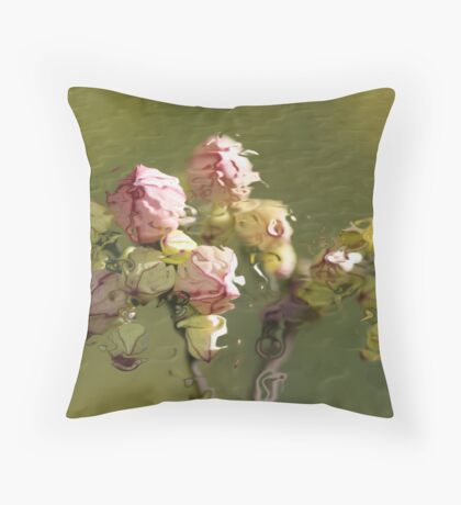 Abstract Rippled Buds Throw Pillow