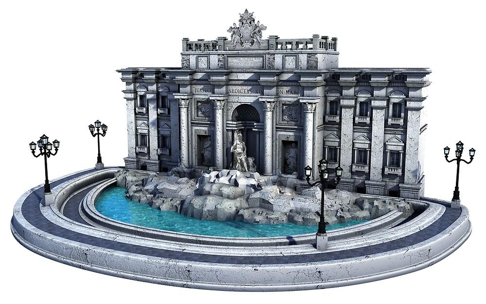Fontana di Trevi. Rome by Marc  Mons
