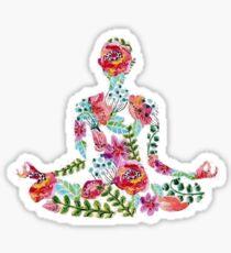 Méditation à Lotus Sticker