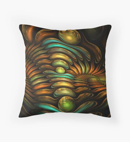 Gem Swirls Throw Pillow